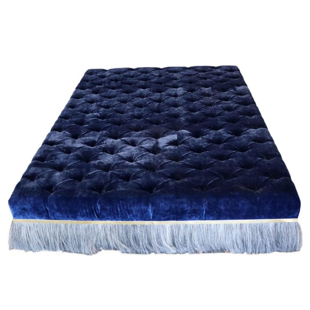Extra Large Ottoman: Designed by J.Rachman and custom made by Konekt Furniture, this giant ottoman is tufted and covered...