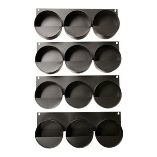 Metal Wall Pocket Planters, S/4 For Sale