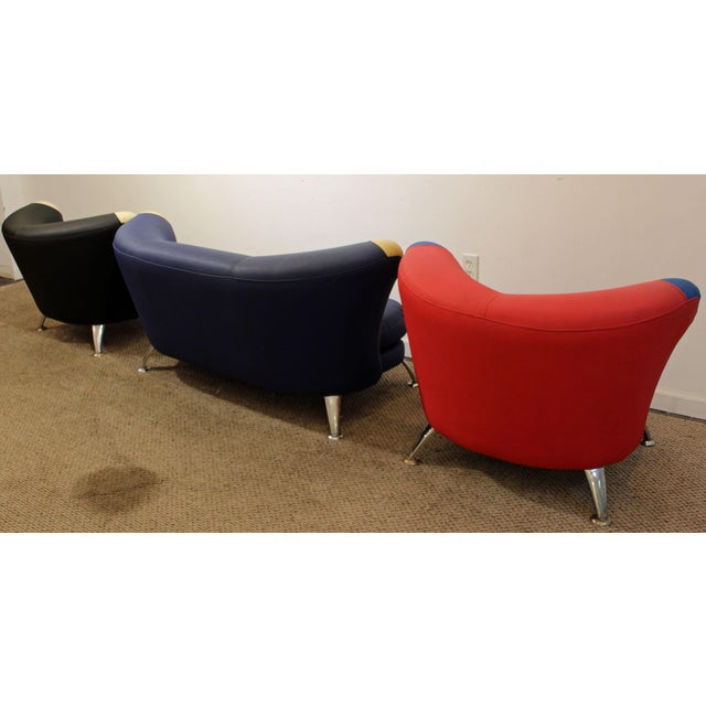 3-Piece Mid-Century Italian Modern Sofa Loveseat/Lounge Chair Set - Image 4 of 11
