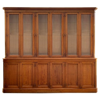Late 19th Century French Twelve Door Oak Cabinet For Sale