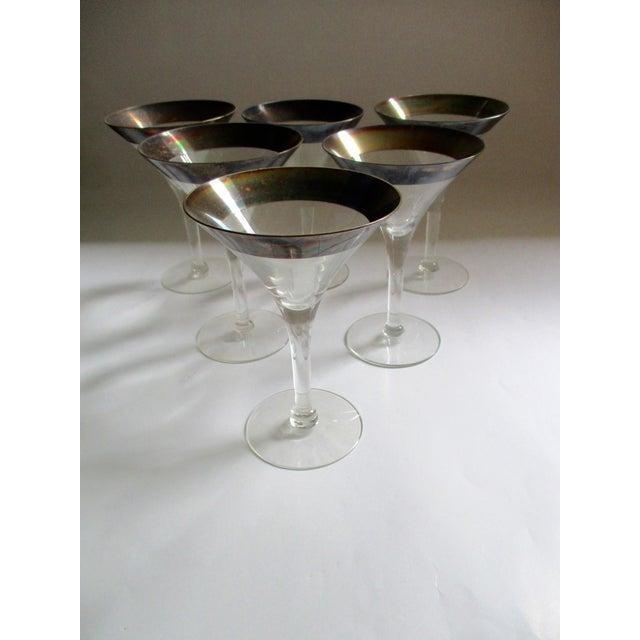 Dorothy Thorpe Silver Rim Champagne Glasses - Set of 6 - Image 2 of 10