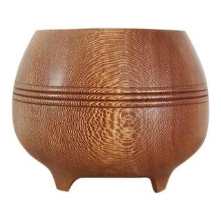 Vintage Brenda Behrens Studio Craft Handmade Wood Turned Vessel For Sale