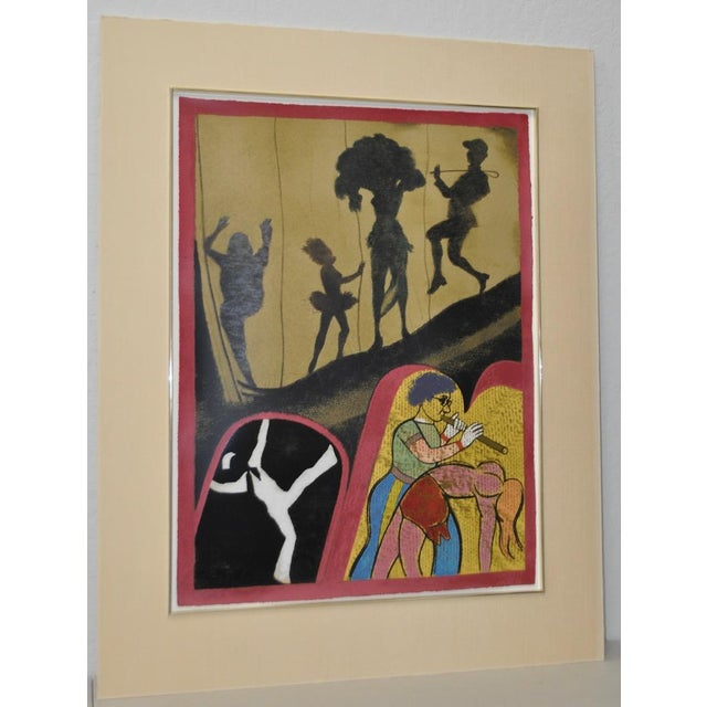 """Abstract Expressionism 1983 """"New York Performing Arts Center"""" Pencil Signed Lithograph by R.B. Kitaj For Sale - Image 3 of 8"""