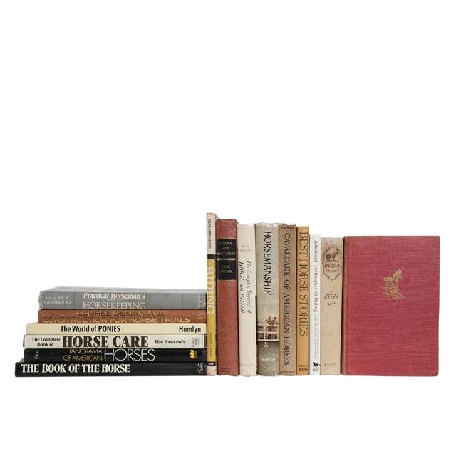 Midcentury Horsemanship Book Set, S/15 For Sale