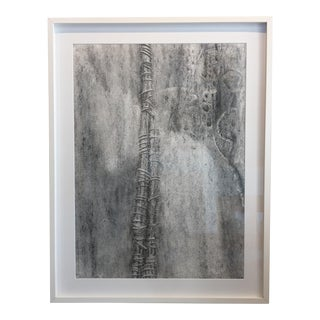 Contemporary Black and White Abstract Drawing, Framed For Sale
