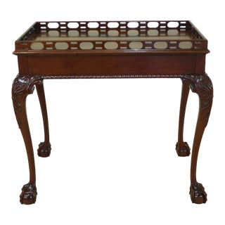 Councill Craftsmen Ball & Claw Chippendale Mahogany Tea Table For Sale
