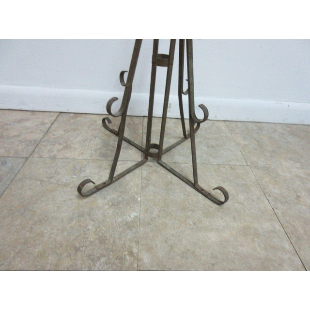 Antique Wrought Iron Scroll Flag Pole Music Stand Ceremonial For Sale - Image 9 of 11