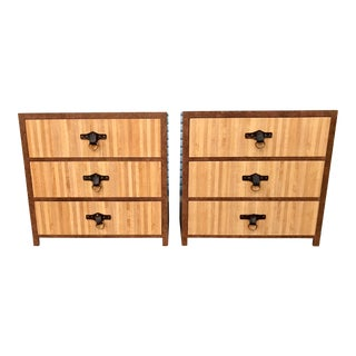 1970s Campaign Style Nightstands-a Pair For Sale
