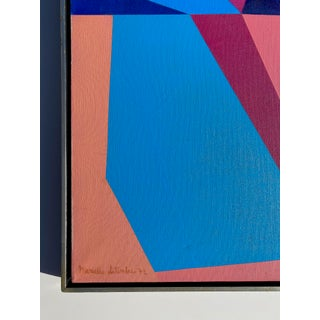 20th Century French Hard-Edged Geometric Oil on Canvas Preview