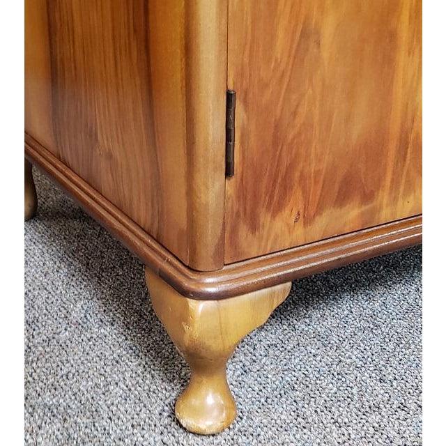 Vintage Walnut Double Door Armoire C.1940 For Sale In San Francisco - Image 6 of 8