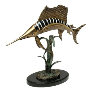 Scarborough House Brass Shell Sailfish Figurine For Sale