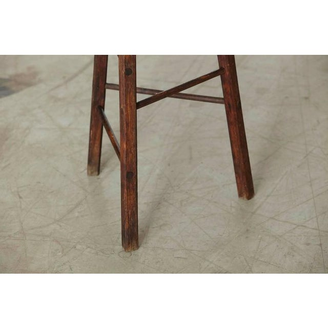 Late 19th Century Primitive Rustic Three Legged Stool For Sale In New York - Image 6 of 6
