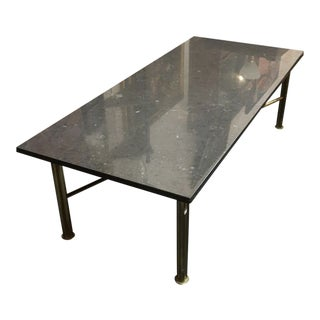 Black Marble Top Coffee Table With Brass Base