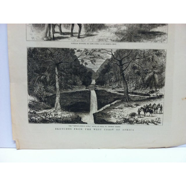 "This is an Antique The Graphic News Print that is titled ""Sketches from the West Coast of Africa"". The Print is dated..."