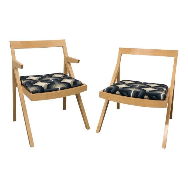 Minimalist Modern Custom Side Chairs - a Pair For Sale