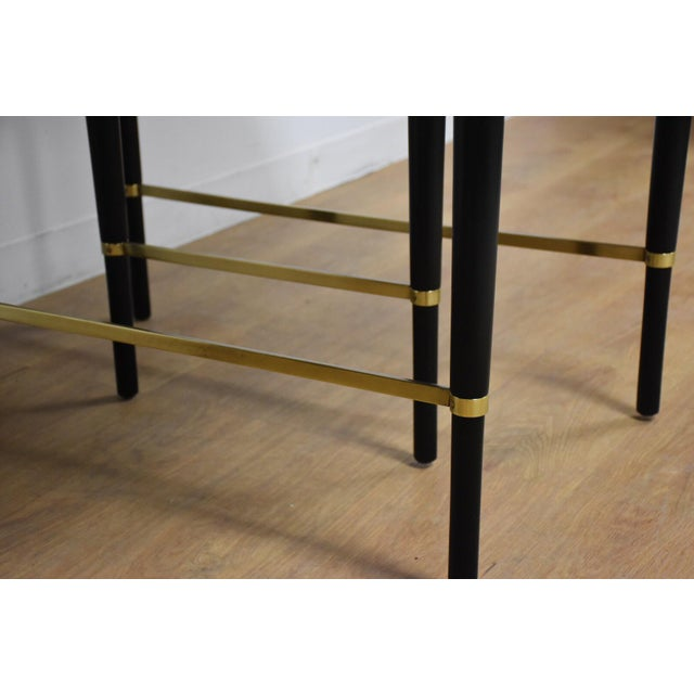 Gold Paul McCobb Black Lacquer and Brass Dining Table For Sale - Image 8 of 11