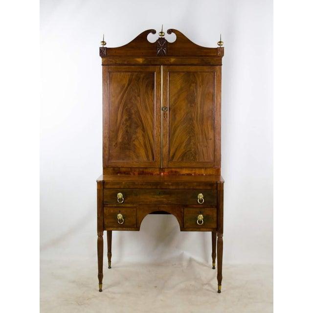 Early 19th Century Antique Regency Secretary Desk For Sale - Image 13 of 13