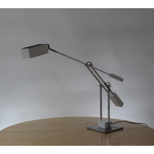 Mid-century high end Robert Sonneman articulated table lamp. Near mint condition free of nicks, scratch or any visible...