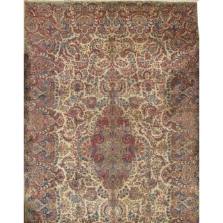 Pasargad Antique Persian Lavar Kerman Rug - 11′2″ × 18′6″ For Sale