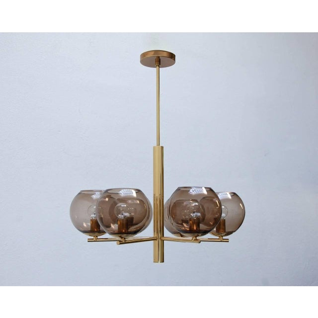 Blown Glass German Globe Chandelier For Sale - Image 7 of 10
