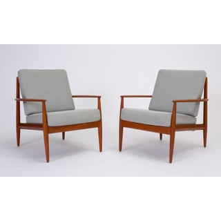 Grete Jalk for France & Son Teak Lounge Chairs - a Pair For Sale