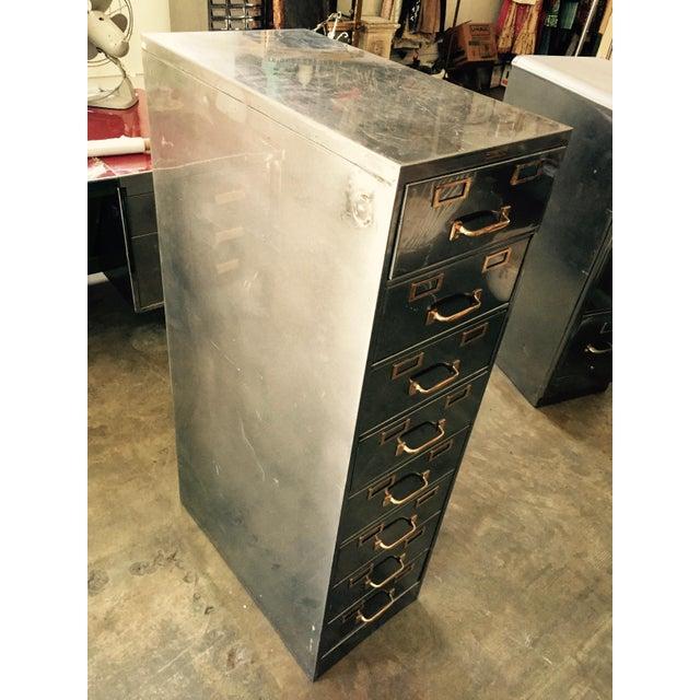 Vintage Polished Modern Metal Steelcase 8-Drawer File Cabinet - Image 4 of 8