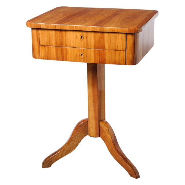 Biedermeier sewing table For Sale - Image 11 of 11
