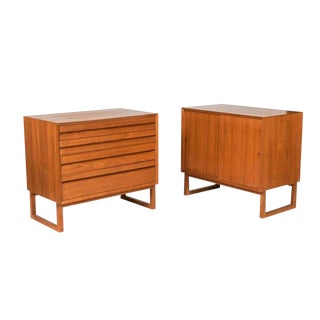 1950s Danish Modern Poul Cadovius Cabinets - a Pair For Sale