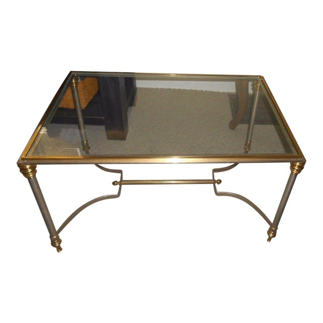 Vintage Maison Jansen Glass Side Table - Image 1 of 5