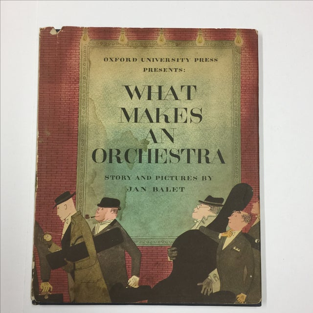 What Makes An Orchestra. Story and pictures by Jan Balet. New York: Oxford University Press, 1951. First Edition. Blue...