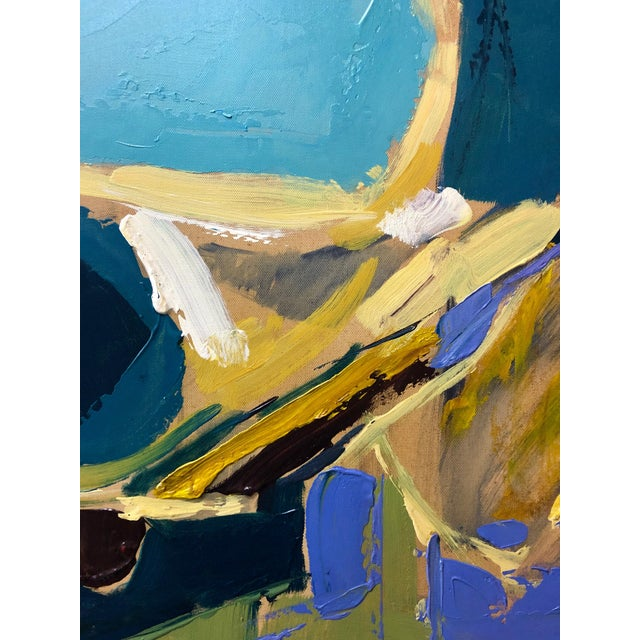 This piece is by British artist Liang Richardson. His work appears abstract at close range, but is also full of subtle...