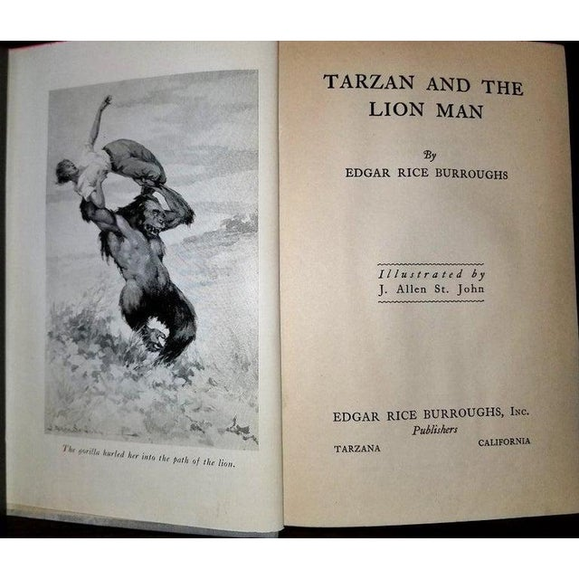 "Paper ""Tarzan and the Lion Man"" 1st Edition Book by Edgar Rice Burroughs For Sale - Image 7 of 13"