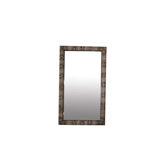 """""""Snake Skin"""" Vintage Mirror For Sale - Image 9 of 9"""