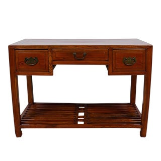 19th Century Chinese Carved Beech Wood Writing Desk For Sale