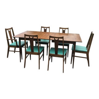 Mid Century Modern Wooden Dining Set - 7 Pieces For Sale