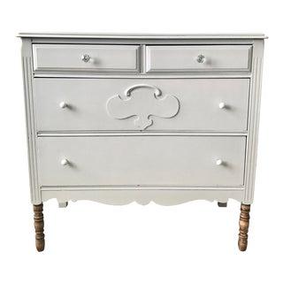 Mid-Century Gray Antique Dresser