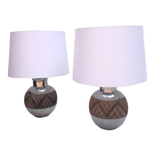 Ceramic Table Lamps by Bitossi - a Pair For Sale