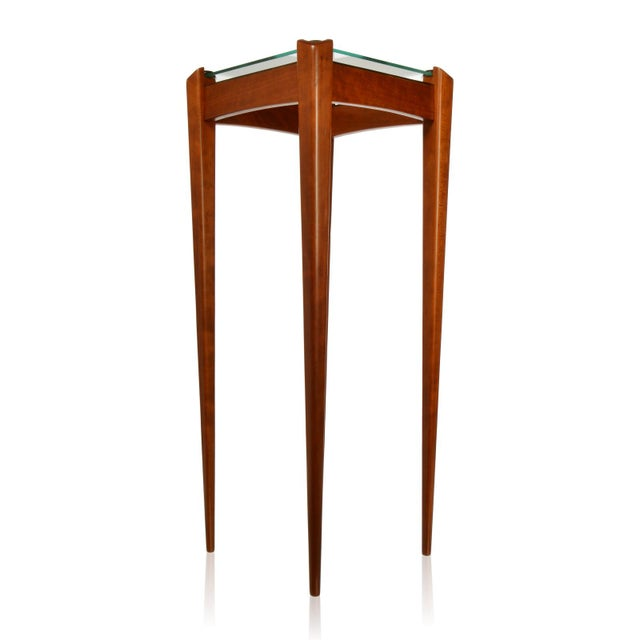 Modern Pair of Custom Made Wood and Glass Display Pedestals For Sale - Image 3 of 8