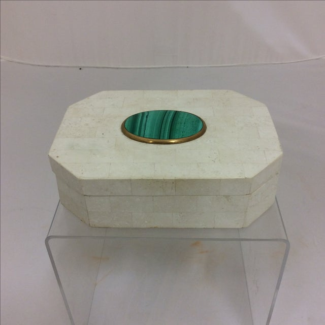 Maitland Smith Tessellated Marble & Malachite Box - Image 2 of 11