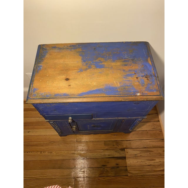 Antique Swedish Commode or Chest With Original Paint For Sale - Image 11 of 13