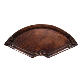 19th Century Chinese Birch Fan Form Bat Tray For Sale