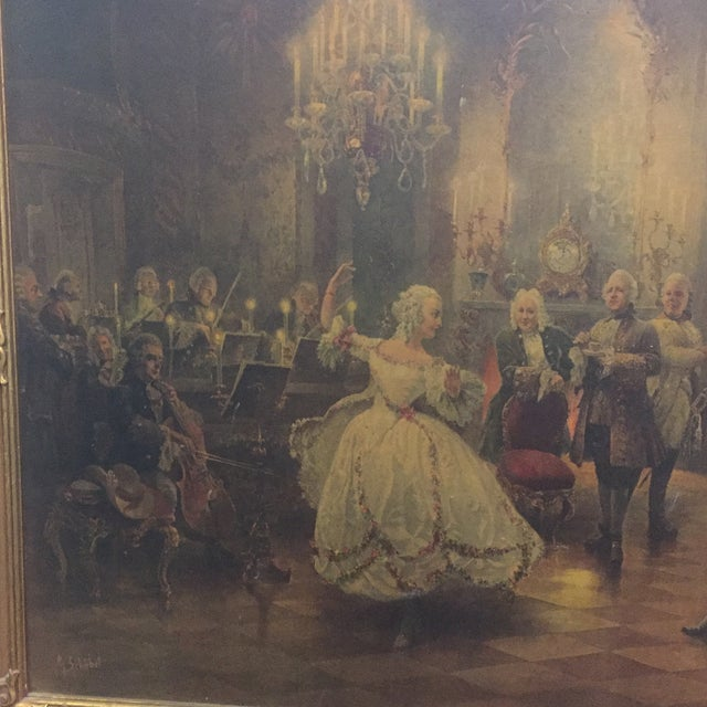 French Georg Schobel French Court Painting For Sale - Image 3 of 8