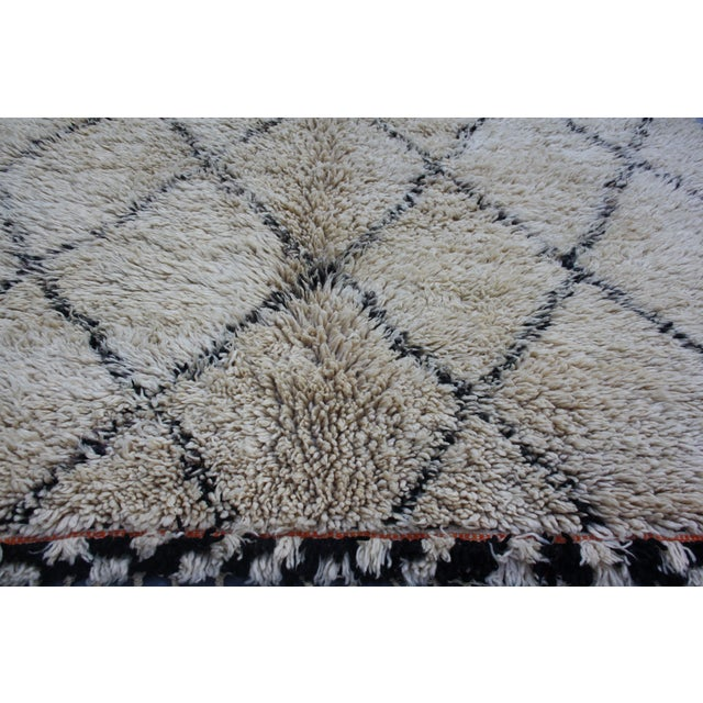 Moroccan Beni Ourain Rug - 6′6″ × 13′5″ - Image 3 of 4