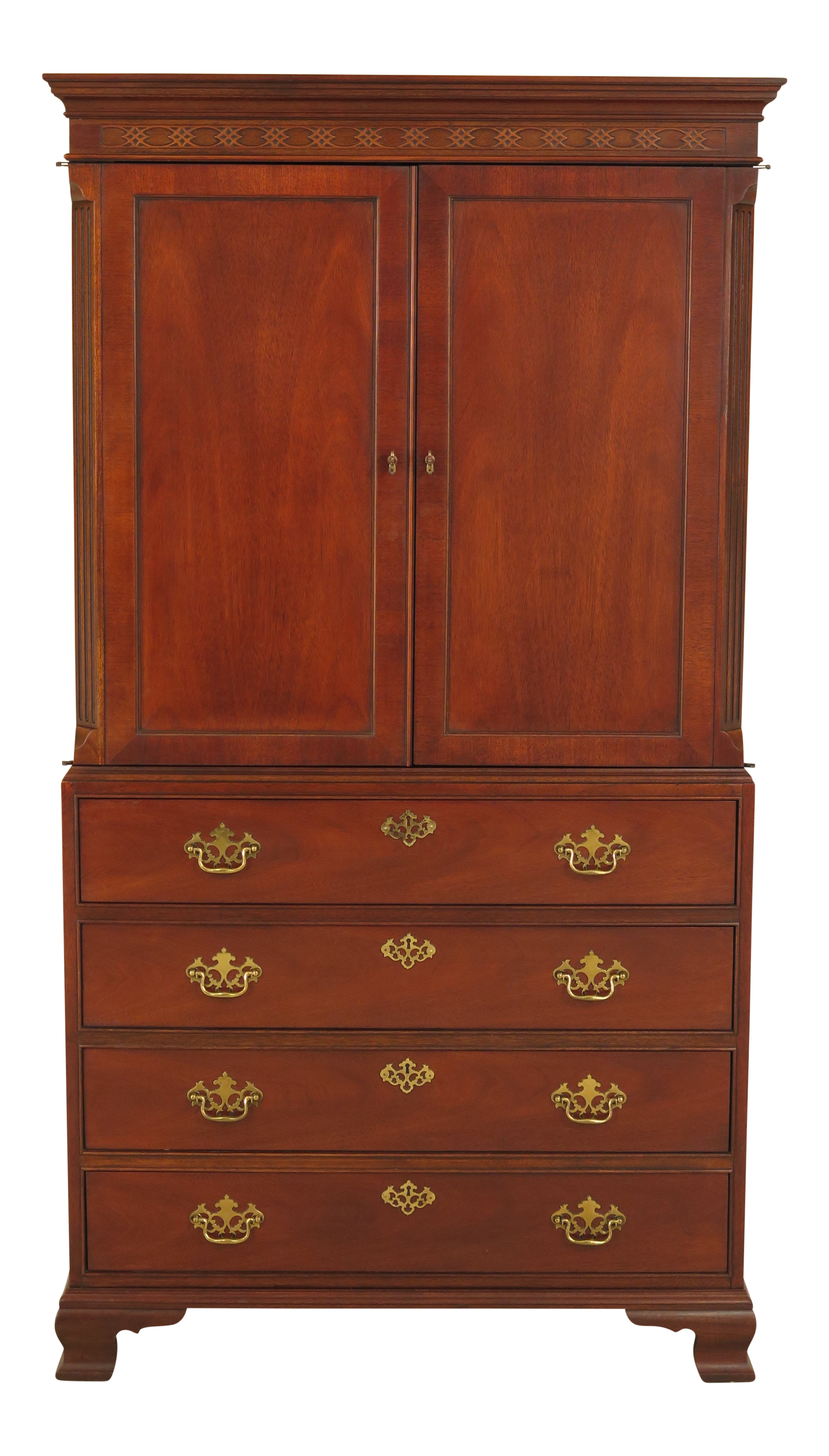 Baker Mahogany 2 Door Armoire Entertainment Cabinet  sc 1 st  Chairish & Baker Mahogany 2 Door Armoire Entertainment Cabinet | Chairish