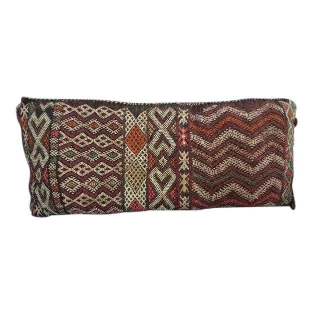 Vintage Moroccan Textile Kilim Pillow - Image 1 of 6