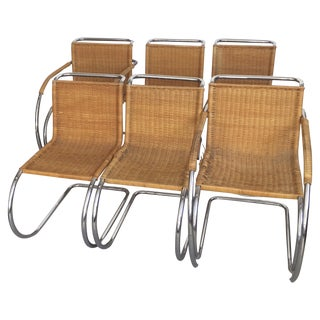 Mies Van Der Rohe Mr Chrome Chairs - Set of 6 For Sale