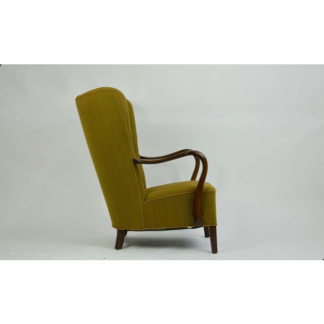 Mid-Century Modern 1940s Danish Lounge Chair by Alfred Christensen For Sale - Image 3 of 8