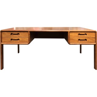 Scandinavian Modern Teak Executive Desk