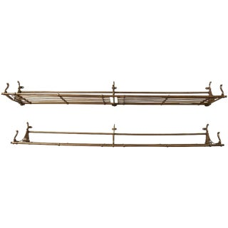 Pair of Late 19th Century Train Car Luggage Rack For Sale