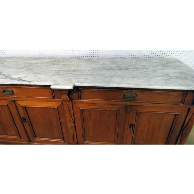 Continental Style Marble Top Sideboard For Sale - Image 4 of 8